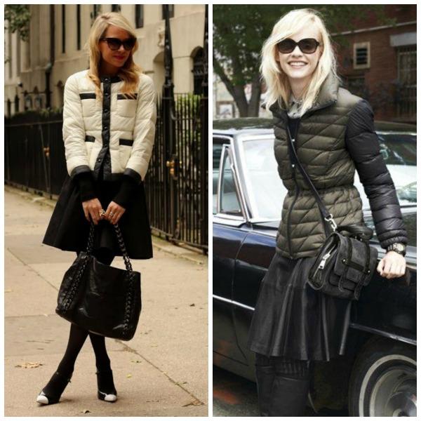 Куртка дутая и юбка